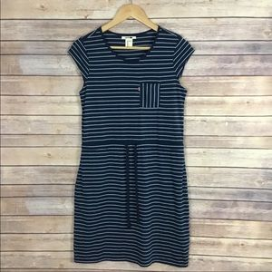 Levi's Short Sleeve Striped Shirt Dress